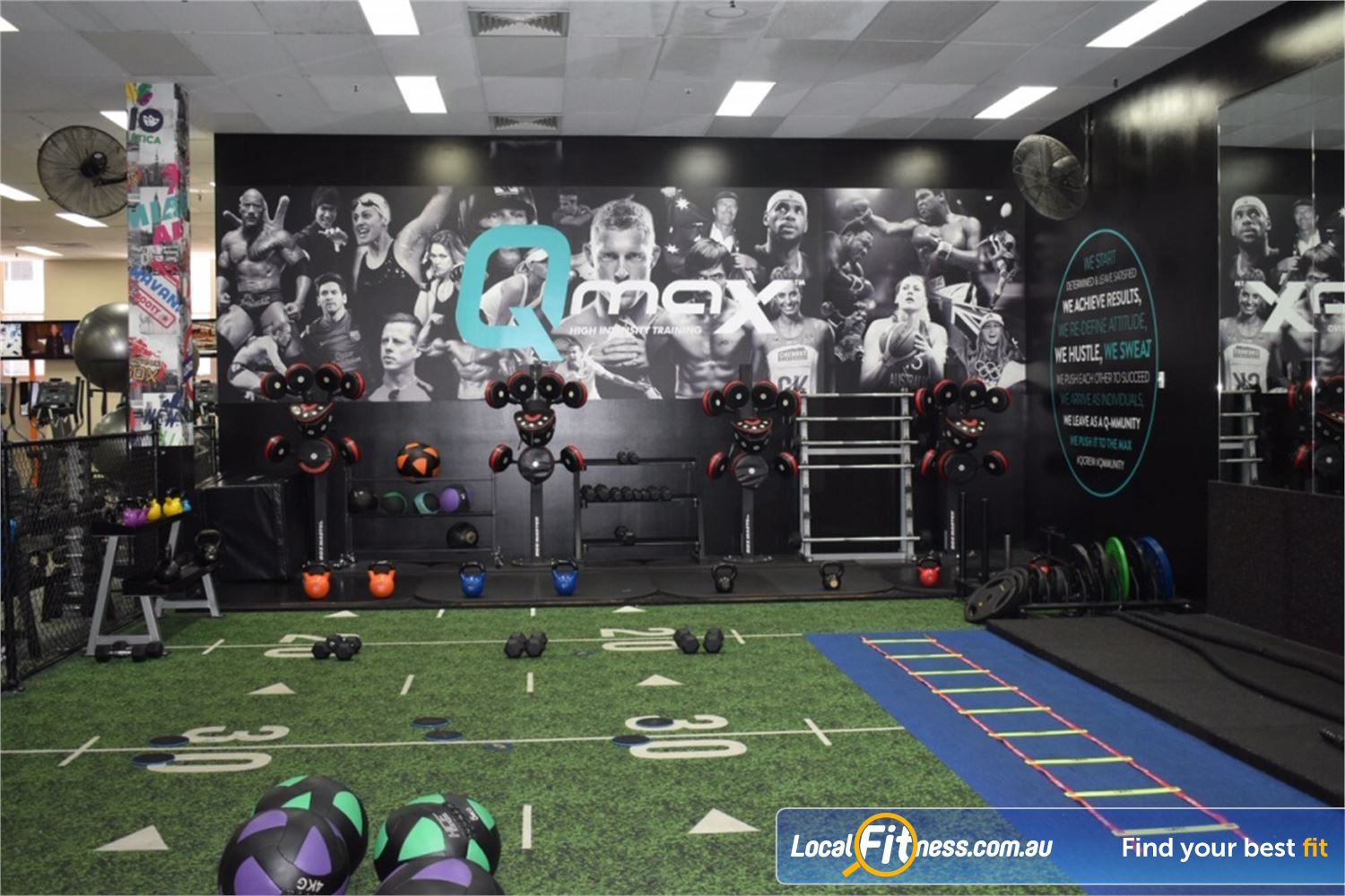 Fit n Fast Near World Square Our Sydney HIIT gym is fully equipped for all your functional training needs.