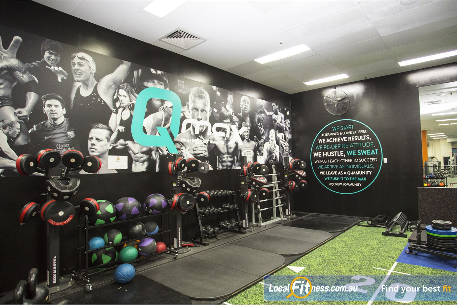 Fit n Fast Sydney Experience Sydney HIIT classes in our QMAX zone.