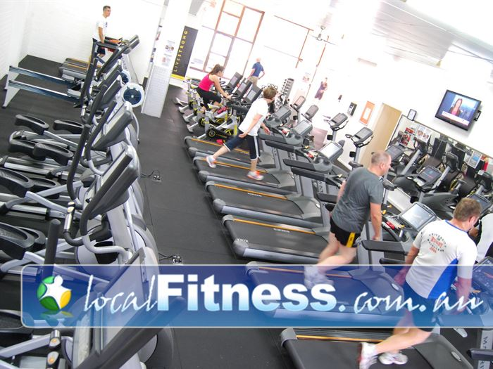 Bulleen Health and Fitness Near Templestowe Lower The spacious and fully equipped cardio area.