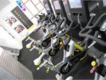 The latest LiveStrong interactive cycle bikes.
