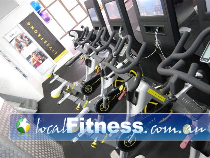 Bulleen Health and Fitness Near Templestowe Lower The latest LiveStrong interactive cycle bikes.