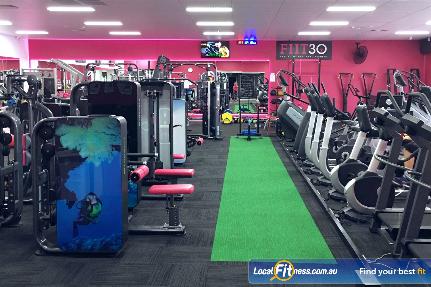 Fernwood Fitness Near Reedy Creek The indoor sled track with prowler at Fernwood Robina HIIT gym.