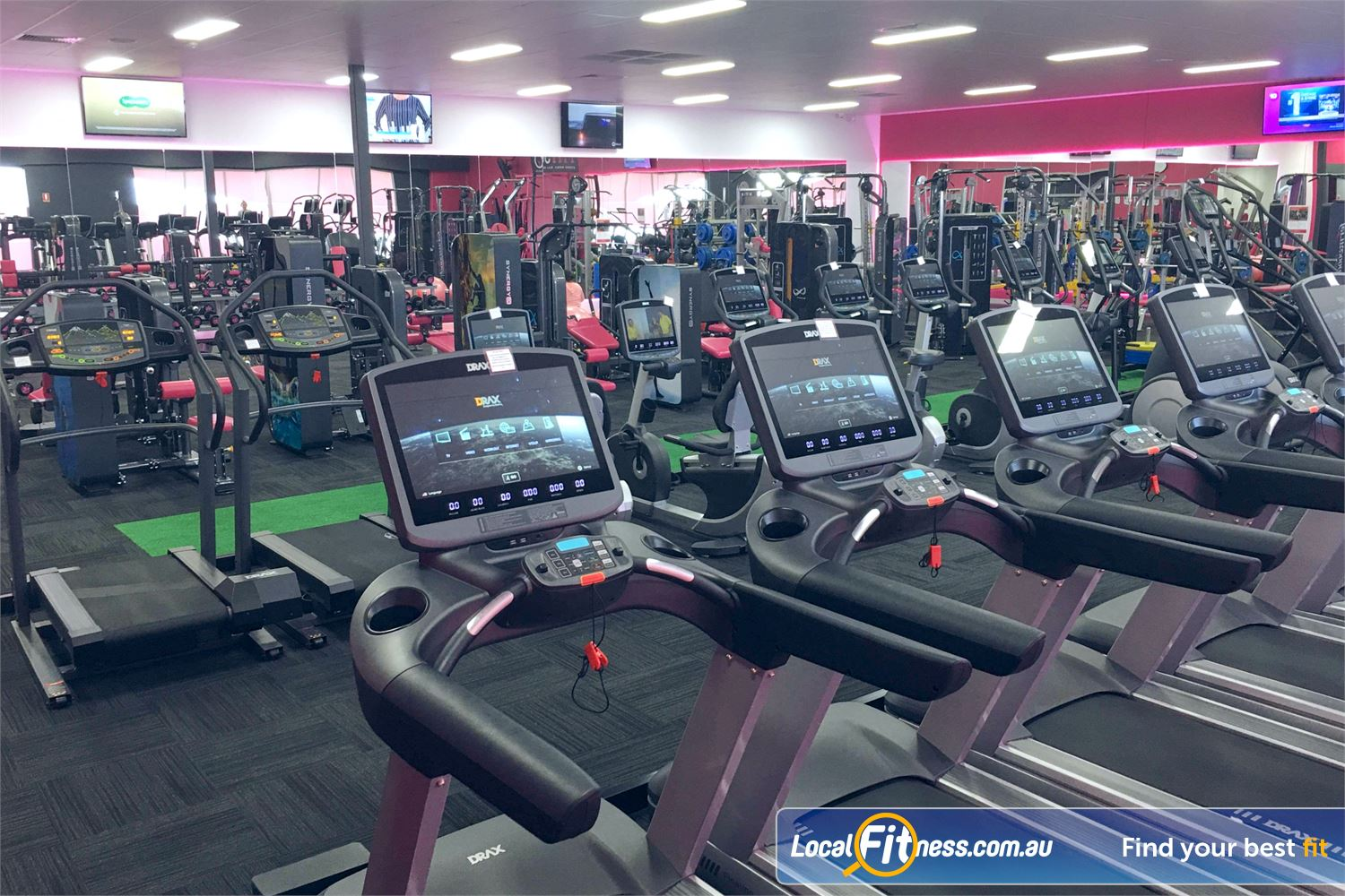 Fernwood Fitness Robina Our cardio includes state of the art personal entertainment screens.