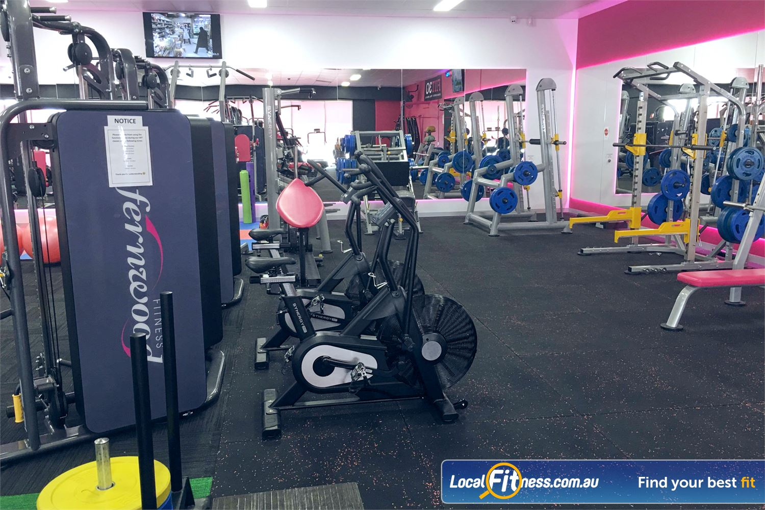 Fernwood Fitness Near Robina Town Centre Get a cardio HIIT workout with our Synergy Air Bionic Bikes.