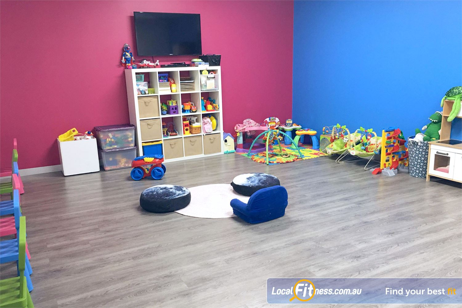 Fernwood Fitness Near Reedy Creek Robina child minding caters for the demands of busy mothers.
