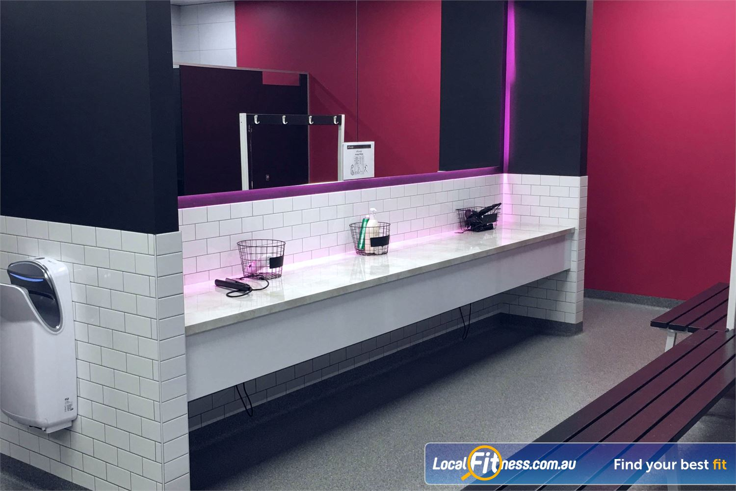 Fernwood Fitness Robina Pamper yourself with our hairdryer and hair straighteners.
