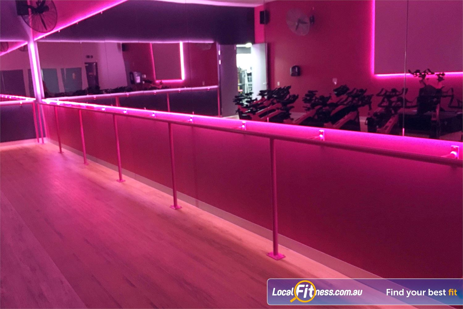 Fernwood Fitness Near Varsity Lakes Enjoy the nightlife vibes in our Robina cycle studio.
