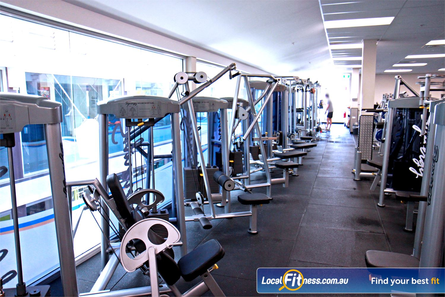 Goodlife Health Clubs North Adelaide The North Adelaide gym includes an extensive selection of equipment from Calgym and Hammer Strength.