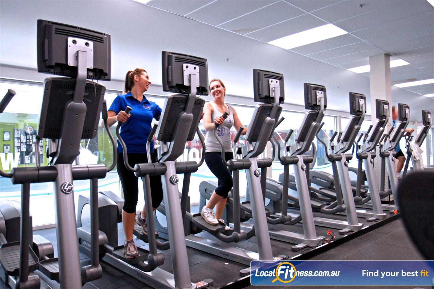 Goodlife Health Clubs North Adelaide Goodlife North Adelaide gym provides multiple machines so you don't have to wait.