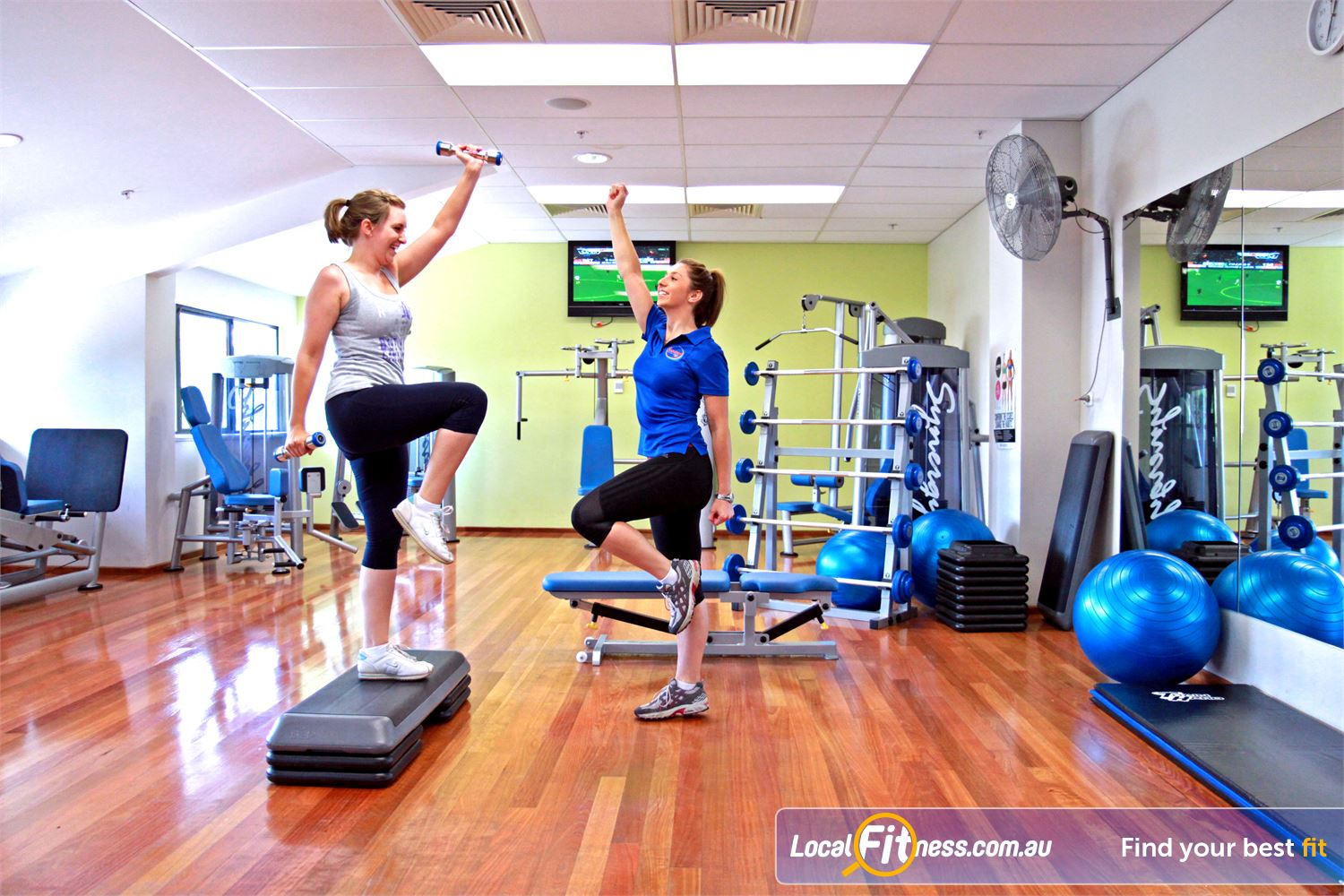 Goodlife Health Clubs Near Fitzroy North Adelaide gym instructors can tailor a high energy weight-lossladies program to suit.