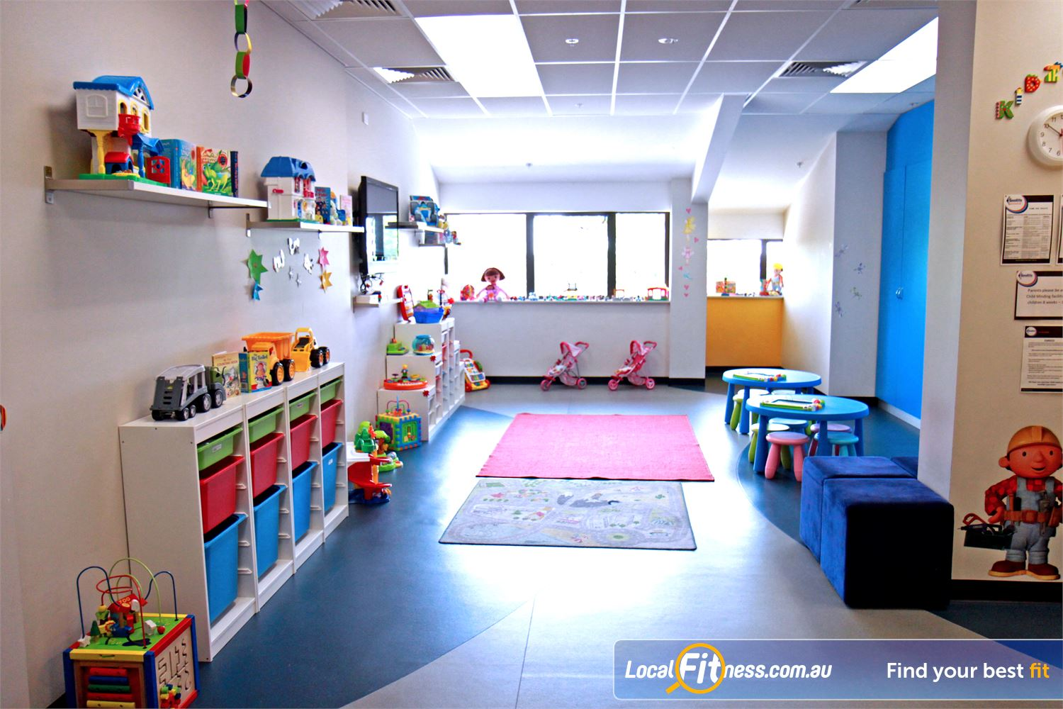 Goodlife Health Clubs Near Fitzroy Goodlife North Adelaide provides on-site child minding services.