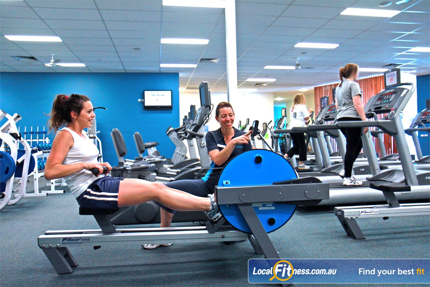 Fernwood Fitness Waurn Ponds Bell Post indoor rowing provides variety to your workout.