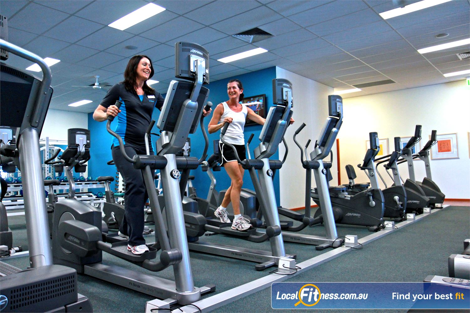 Fernwood Fitness Near Ceres Luxury training with personal entertainment units on each machine.