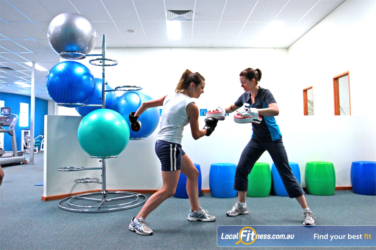 Fernwood Fitness Near Barrabool Waurn Ponds personal trainers can incorporate cardio boxing into your workout.