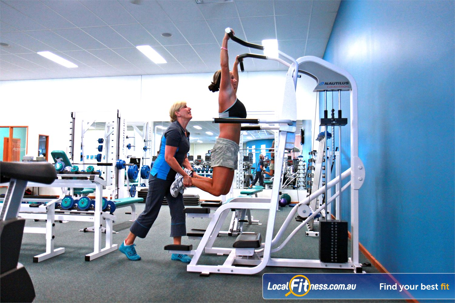 Fernwood Fitness Waurn Ponds We have the right Waurn Ponds Plaza gym equipment to help with women's weight loss and strength.