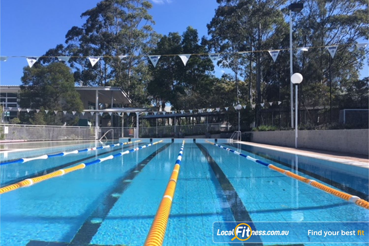 North Ryde Fitness & Aquatic North Ryde The heated 25m outdoor North Ryde swimming pool at NRFA.