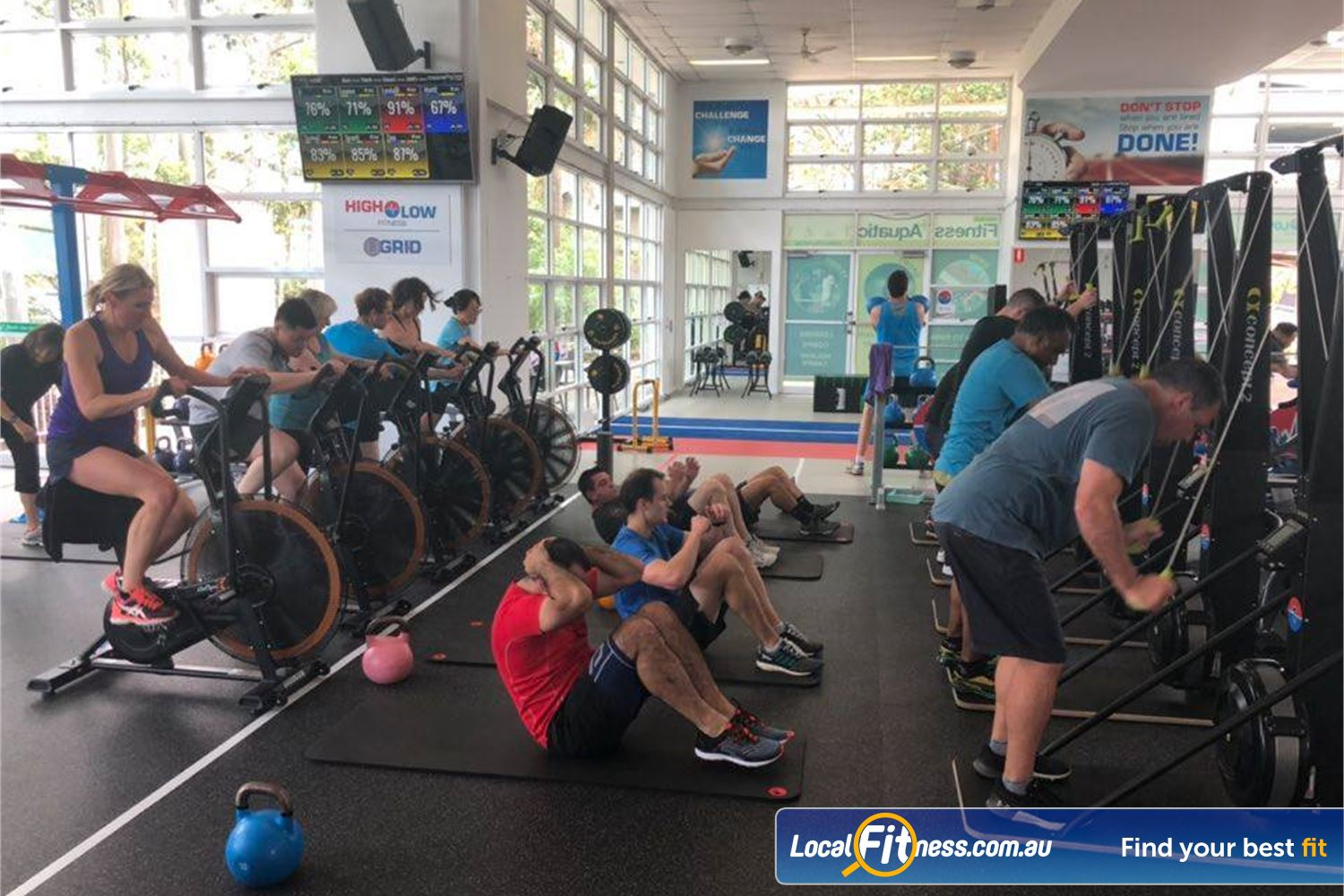 North Ryde Fitness & Aquatic North Ryde HighLow HIIT training is a completely different fitness experience than a normal gym.
