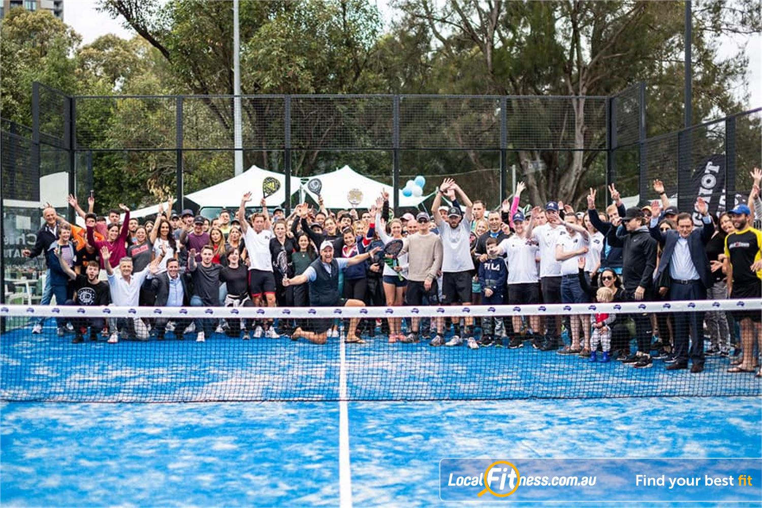 North Ryde Fitness & Aquatic North Ryde Padel is played in doubles on an enclosed court measuring 10m wide by 20m long.