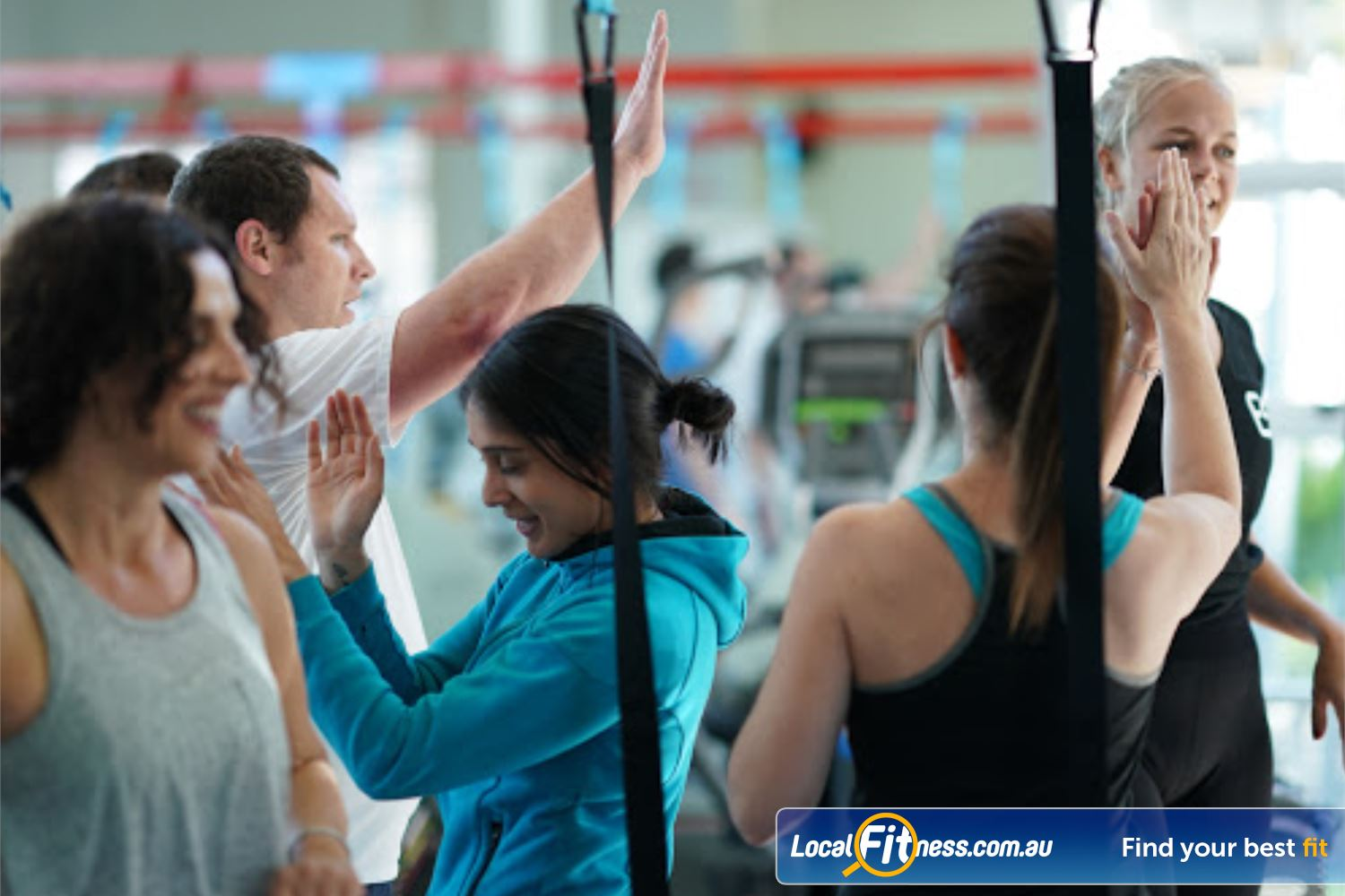 North Ryde Fitness & Aquatic North Ryde High 5's all round after you complete our challenging HIIT workouts.