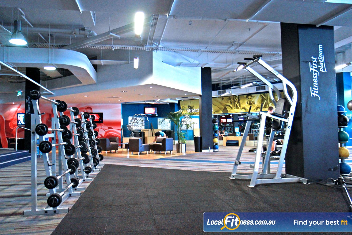 Goodlife Health Clubs Subiaco Feel the spacious comfort of Goodlife gym in Subiaco.