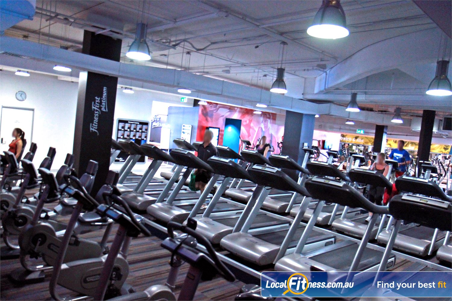 Goodlife Health Clubs Subiaco Multiple cardio machines help to reduce wait times and keep you training.