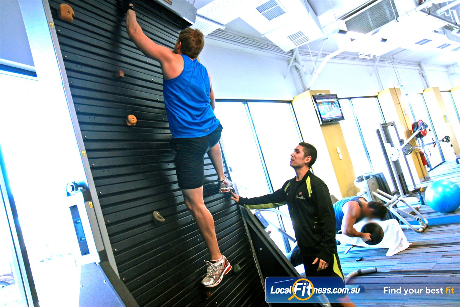 Goodlife Health Clubs Near Jolimont Goodlife Subiaco includes an indoor rock climbing wall.