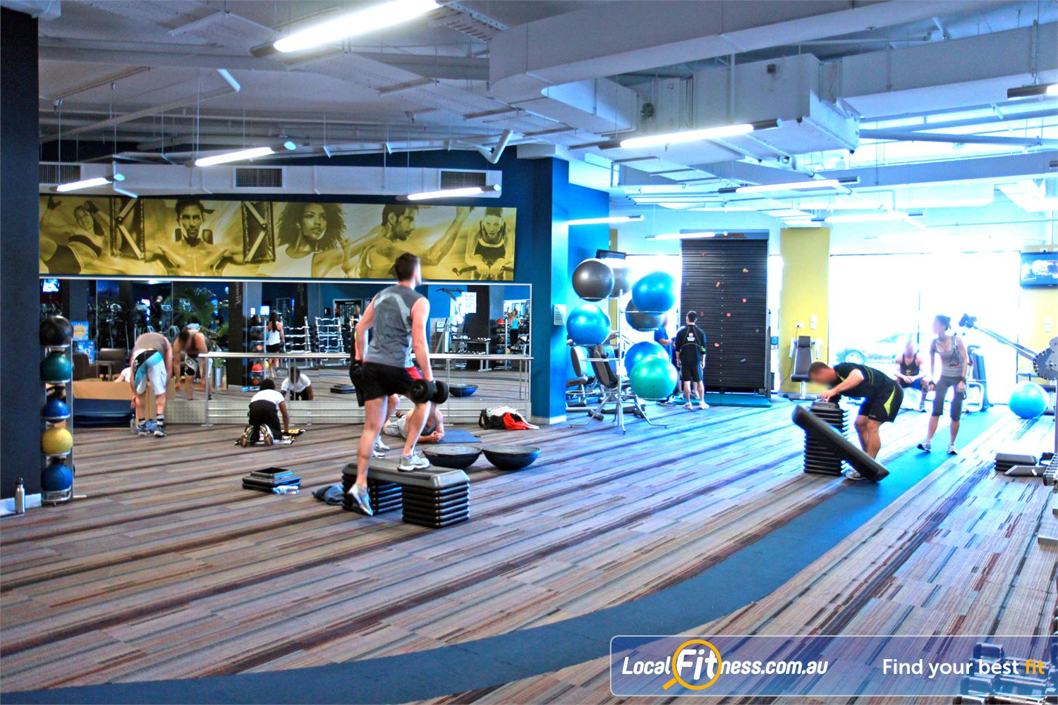 Goodlife Health Clubs Near West Leederville The functional training area at Goodlife Subiaco.
