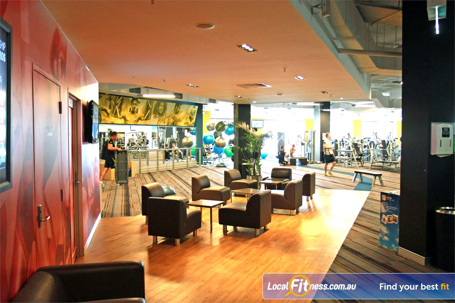 Goodlife Health Clubs Near Jolimont A comfortable cafe style ambiance for members and guests.