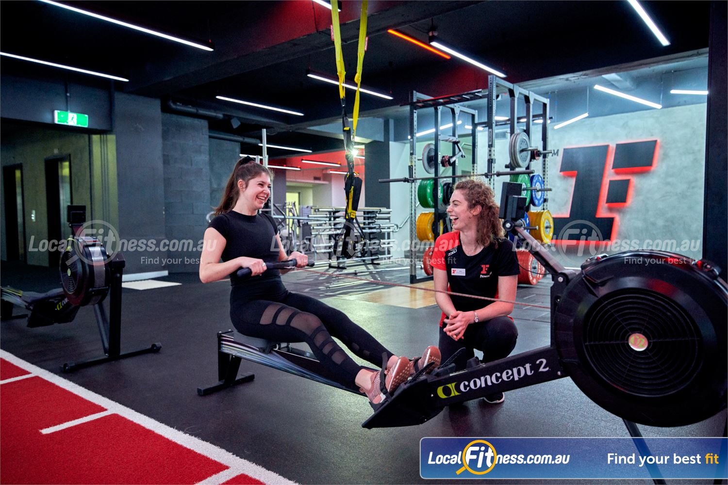 Fitness First Erina Fair Erina Our Erina Fair gym team can take you through a HIIT rowing workout.