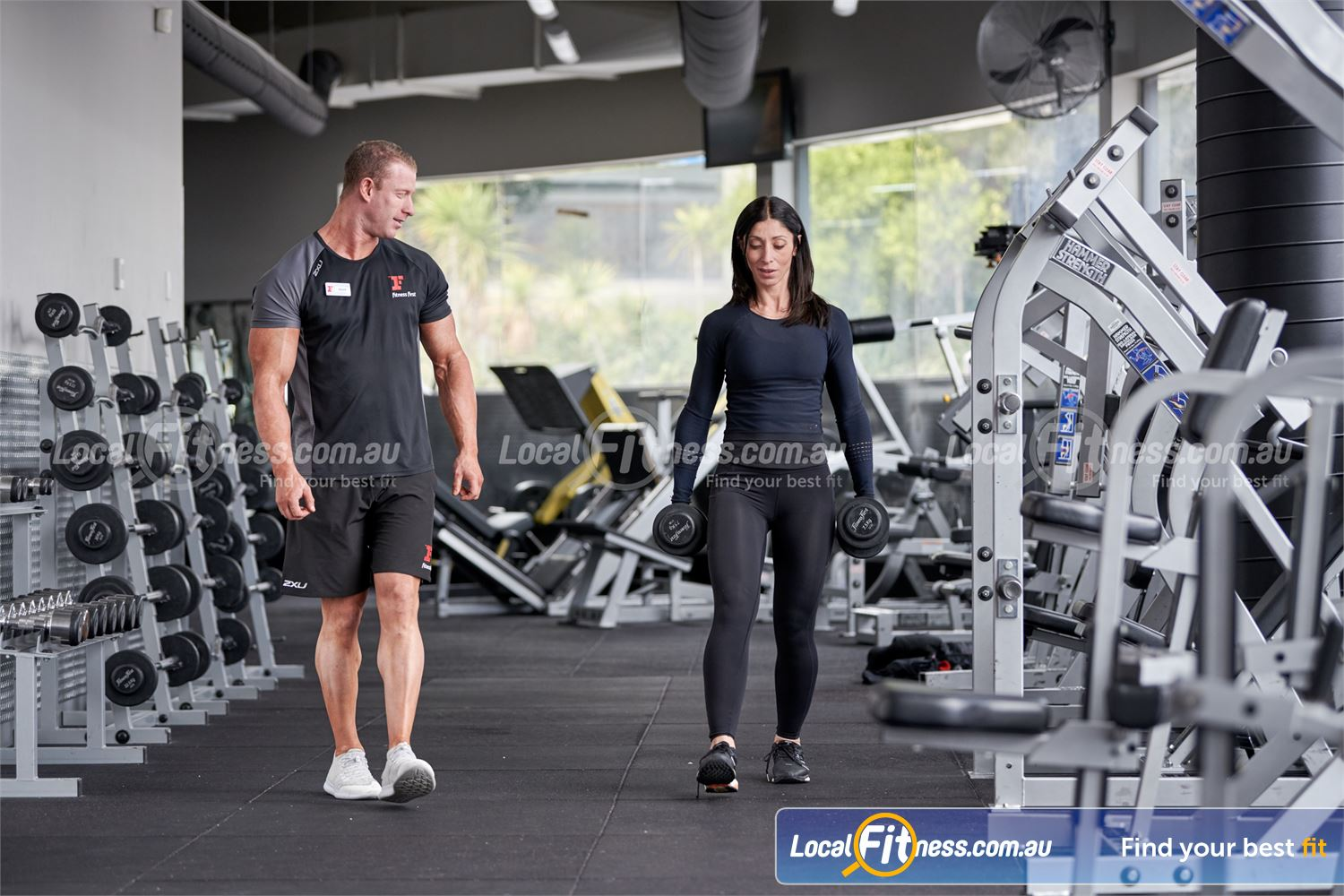 Fitness First Erina Fair Near Springfield Our 24/7 Erina Fair gym includes a fully equipped free-weights area for strength training.