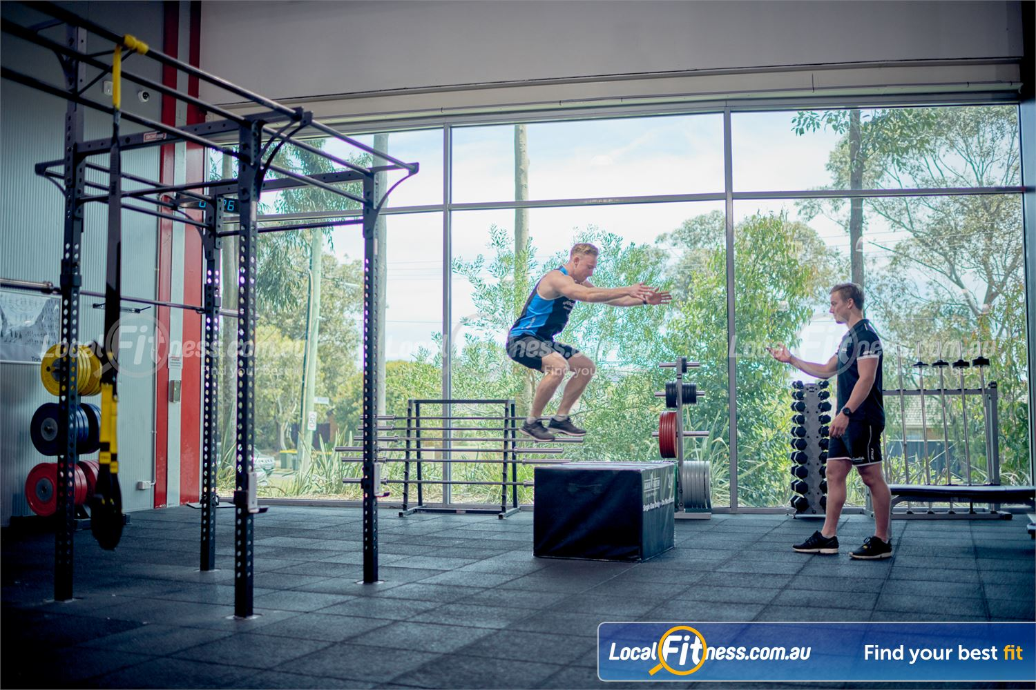 Goodlife Health Clubs Near Frankston North The functional training zone with plyoboxes, stretch cage and more.