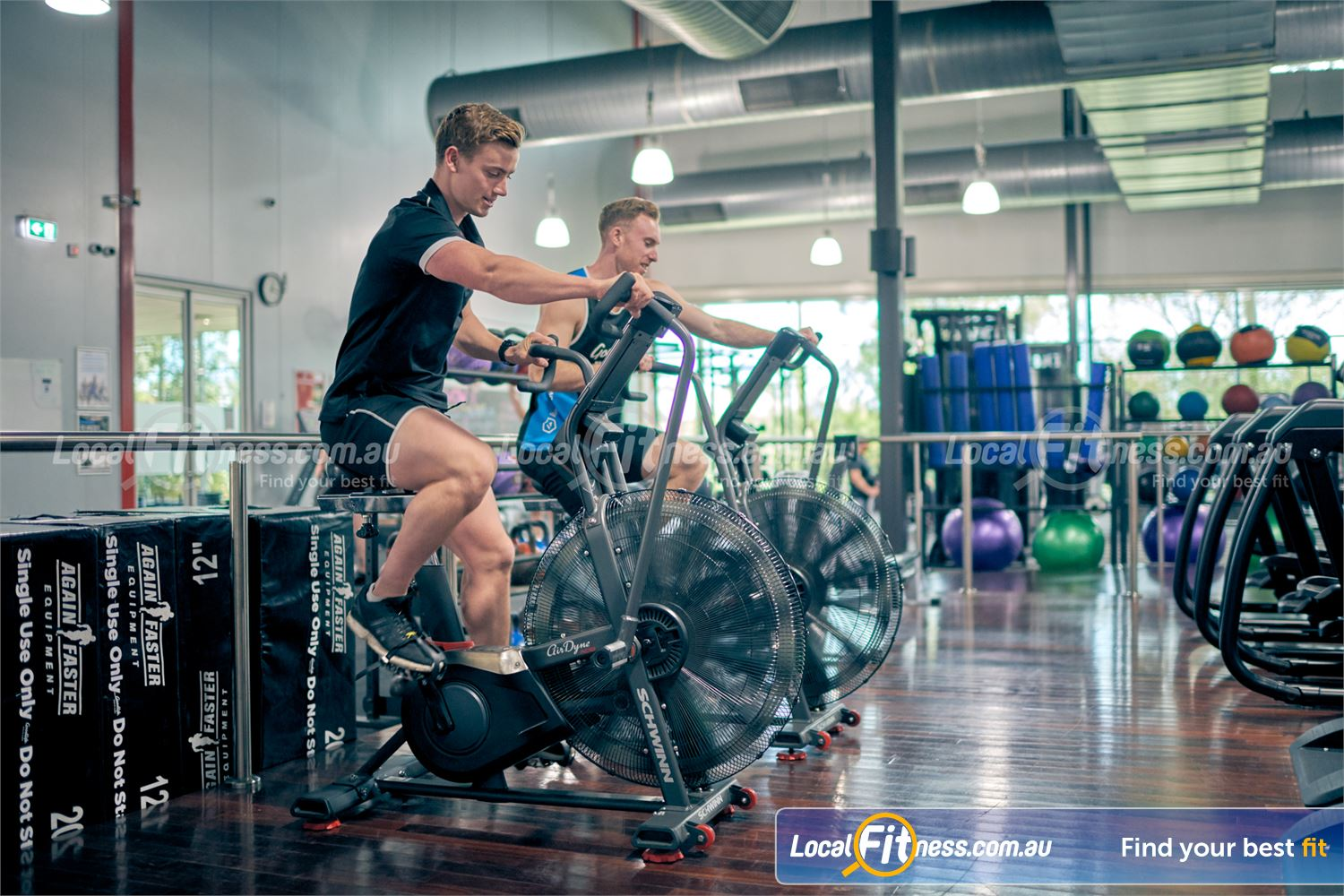 Goodlife Health Clubs Near Baxter Get a HIIT workout on our Airdyne Air bikes.