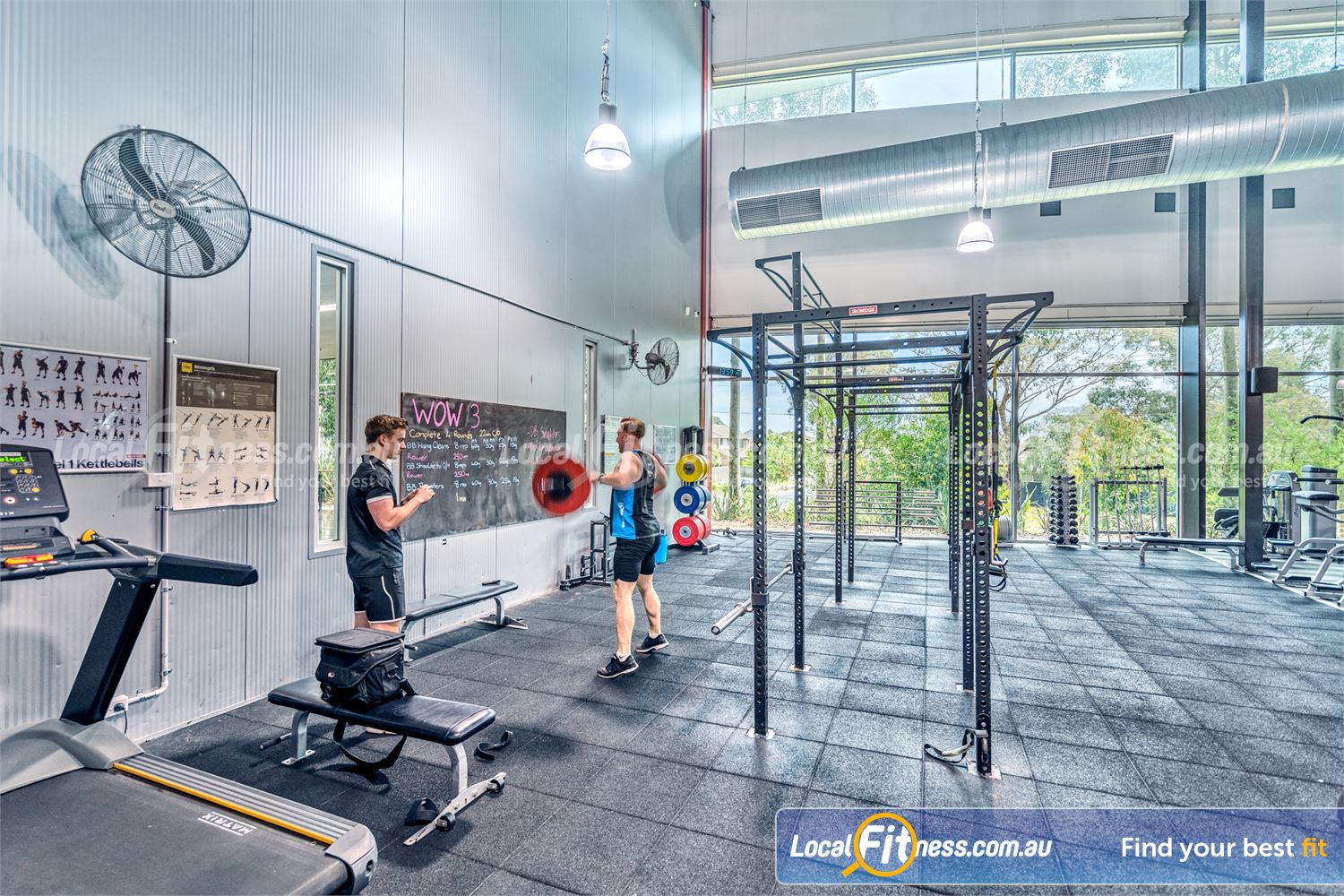 Goodlife Health Clubs Near Baxter The hi-performance strength cage in our functional training area.