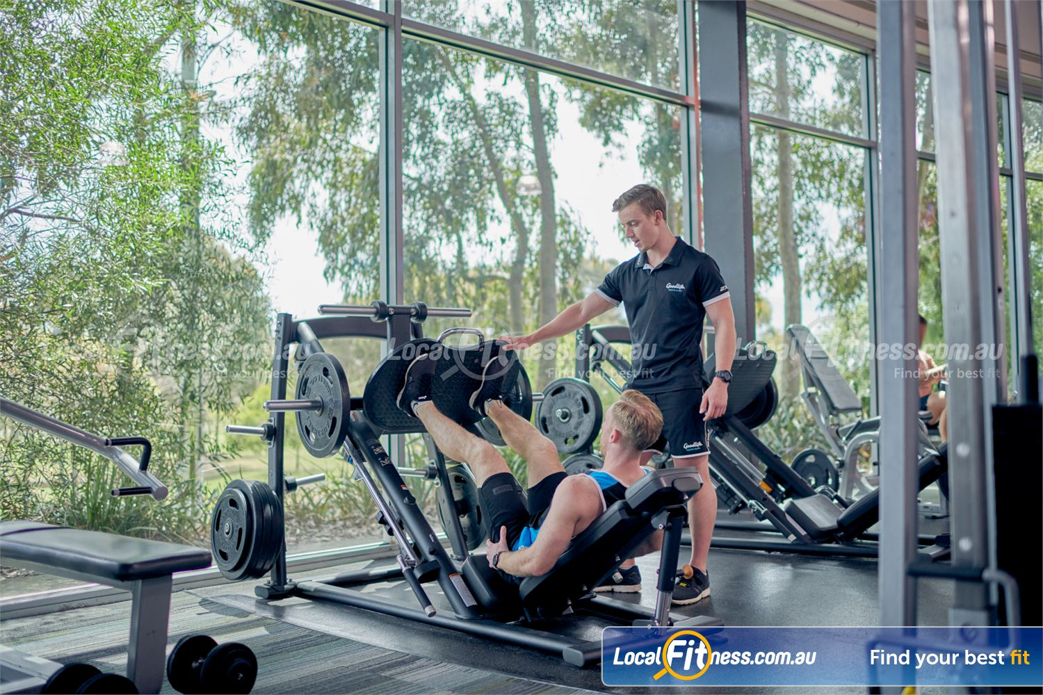 Goodlife Health Clubs Near Baxter Our Karingal gym provides heavy duty plate loading machines inc. the leg press.