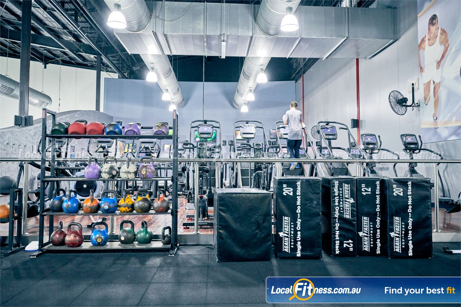 Goodlife Health Clubs Karingal Our functional training area is fully equipped with foam plyo boxes, kettlebells and more.