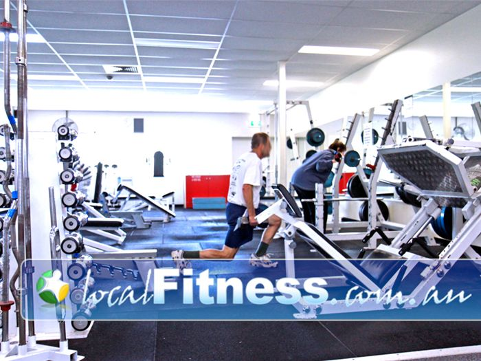 Diamond Valley Sports & Fitness Centre Near Saint Helena The free-weights training area at the Diamond Valley Fitness Centre.