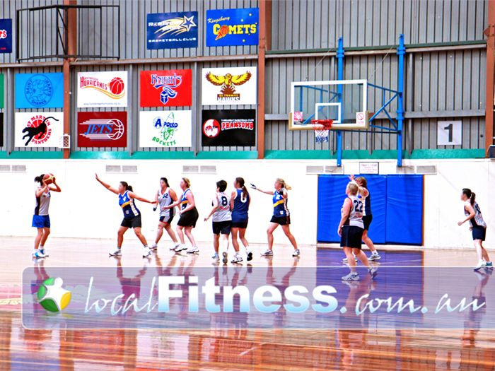 Diamond Valley Sports & Fitness Centre Greensborough Multiple-lined sport courts for basketball, netball, badminton and more.
