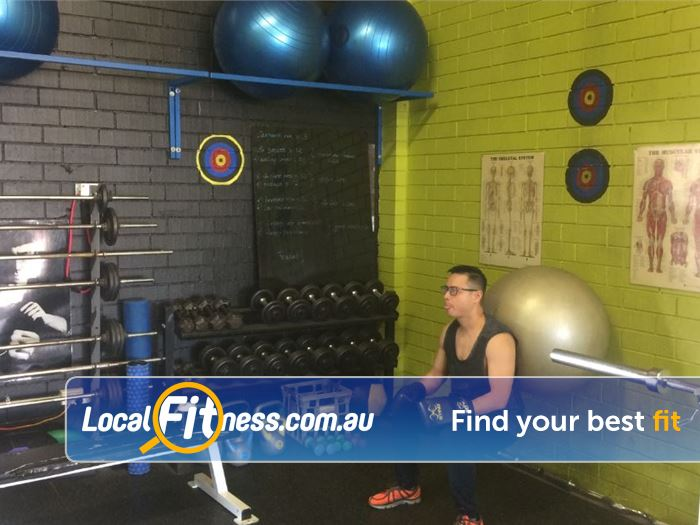 Healthy Vibes Personal Training Bulleen Fully equipped with dumbbells, barbells, fitballs and more.
