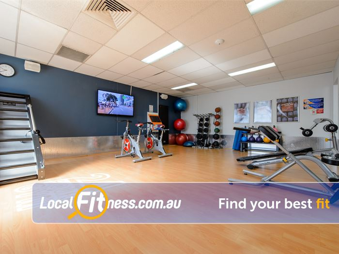 Plus Fitness 24/7 Gym Kellyville    The spacious Thornleigh group fitness studio.