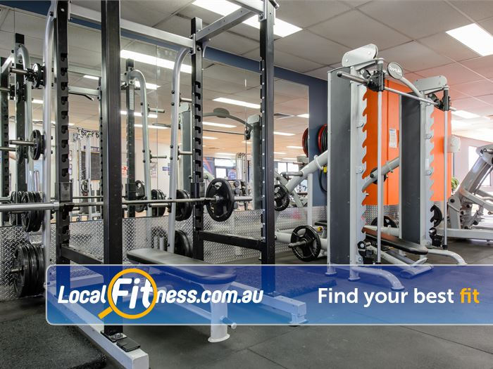 Plus Fitness 24/7 Near Westleigh Enjoy serious training with our heavy duty power racks and smith machine.