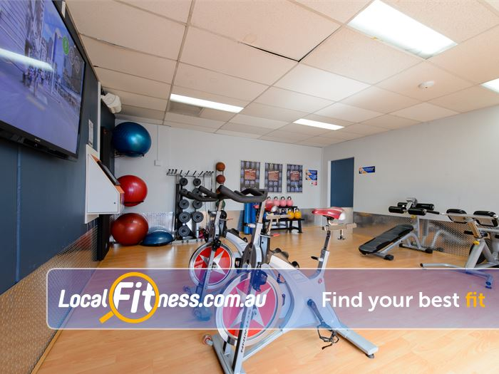 Plus Fitness 24/7 Thornleigh Experience virtual spin cycle classes.