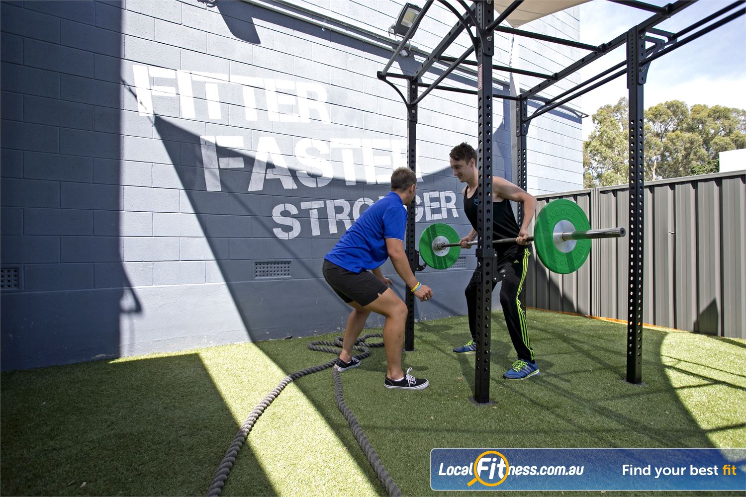 Goodlife Health Clubs Mitcham Near Lower Mitcham Incorporate outdoor weight training into your workouts with our unique outdoor training zone.