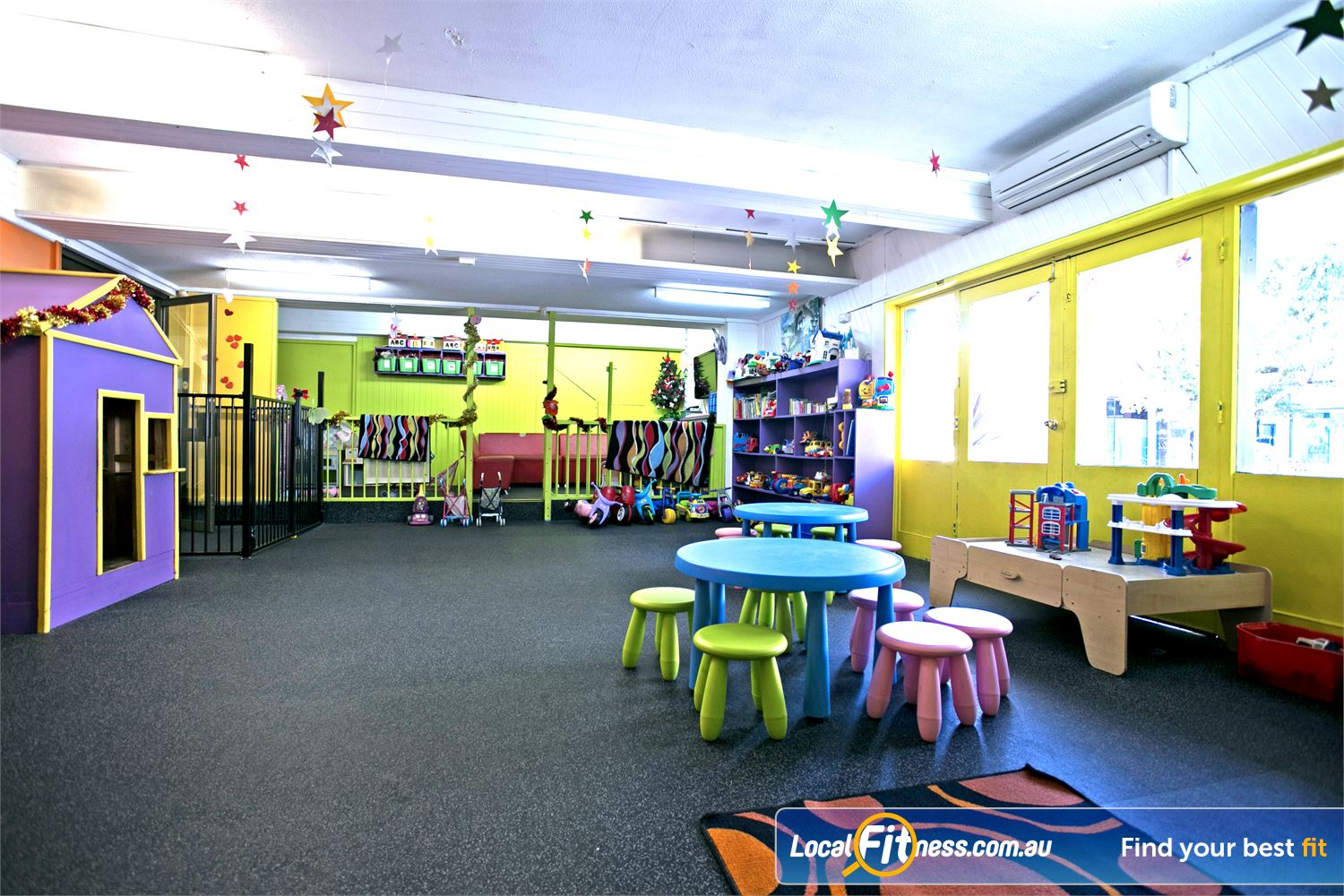 Goodlife Health Clubs Mitcham Kingswood Goodlife Kingswood provides on-site child minding services.
