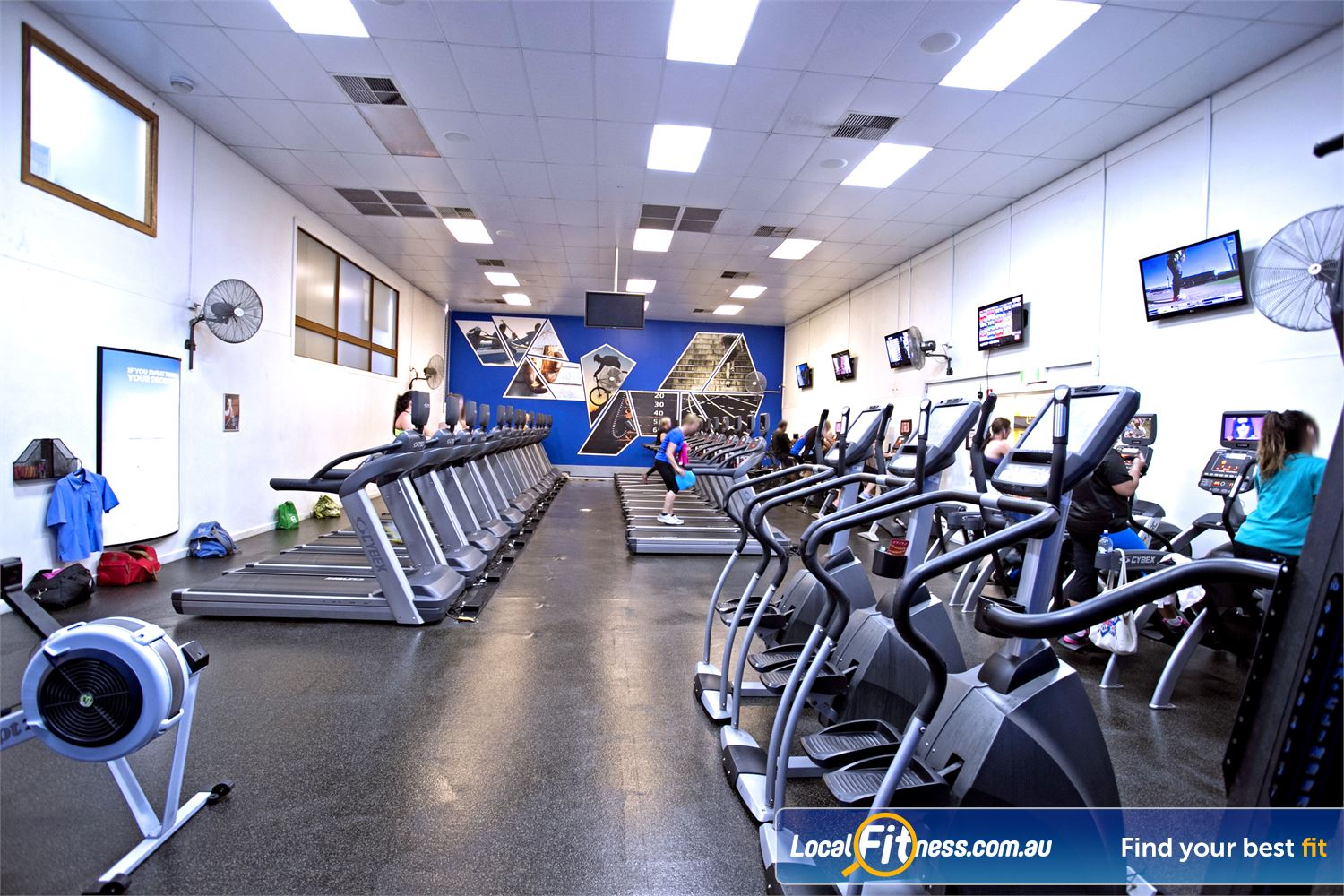 Goodlife Health Clubs Mitcham Near Netherby Vary your cardio with plenty of different machines to choose from to keep things interesting.