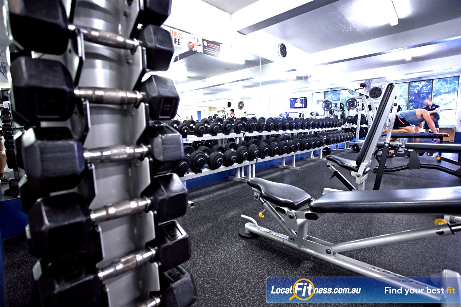 Goodlife Health Clubs Mitcham Near Torrens Park Our Kingswood gym includes a comprehensive range of dumbbells and barbells.