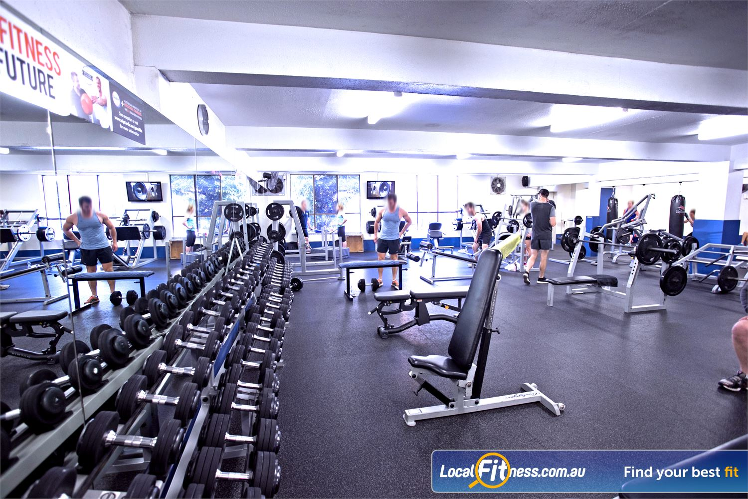 Goodlife Health Clubs Mitcham Kingswood Plenty of free-weights to choose from.
