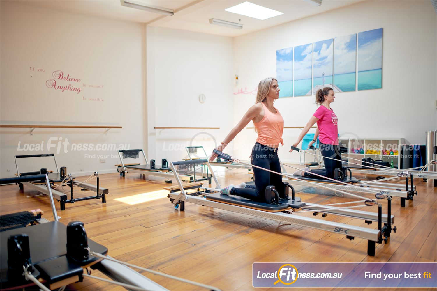 Fernwood Fitness Camberwell Our exclusive Camberwell Reformer Pilates studio.