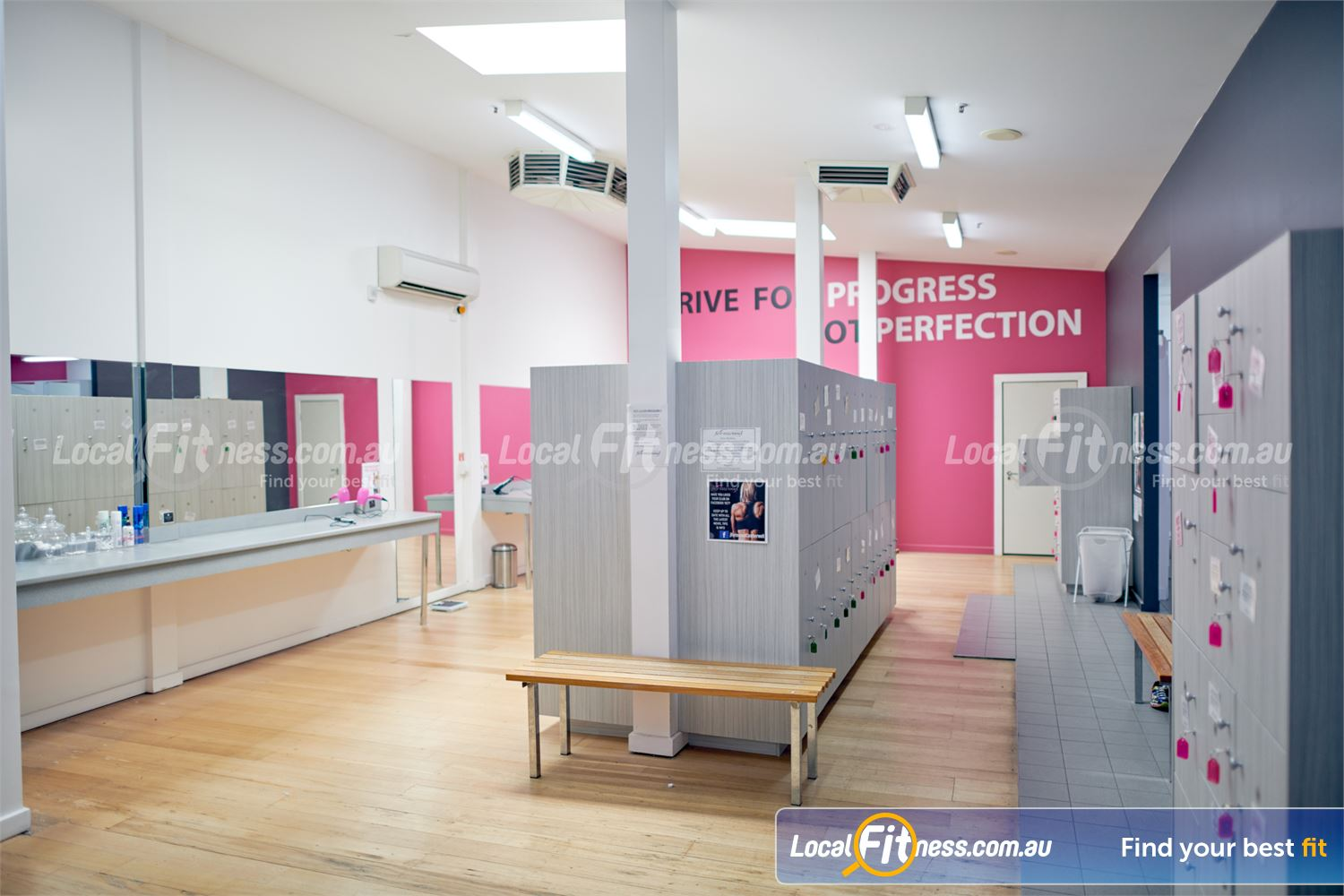 Fernwood Fitness Camberwell Complimentary toiletries and spacious locker facilities to store your belongings.