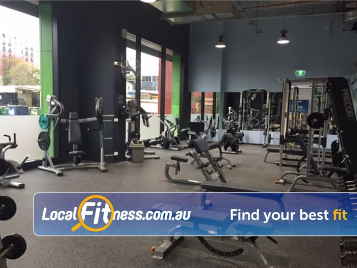 Anytime Fitness Gym Melbourne  | Our Docklands gym includes a fully equipped free-weights