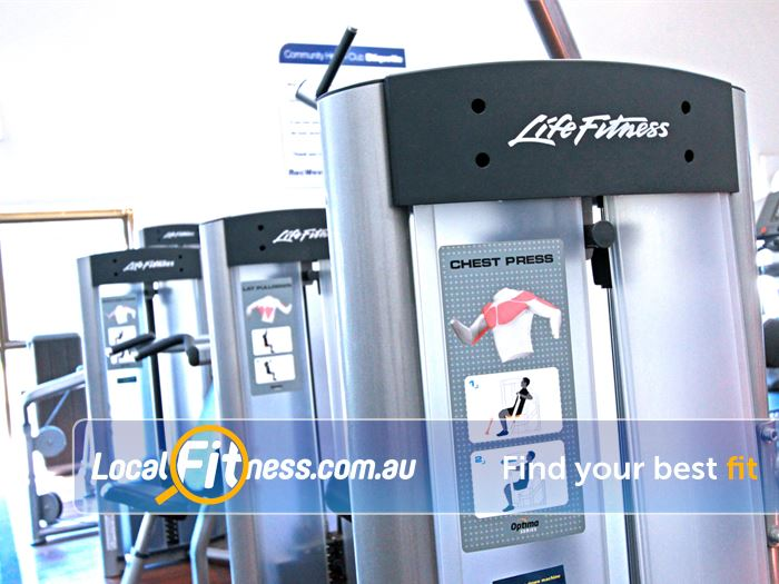 RecWest Near Seddon Our Footscray gym includes state of the art equipment from Life Fitness.